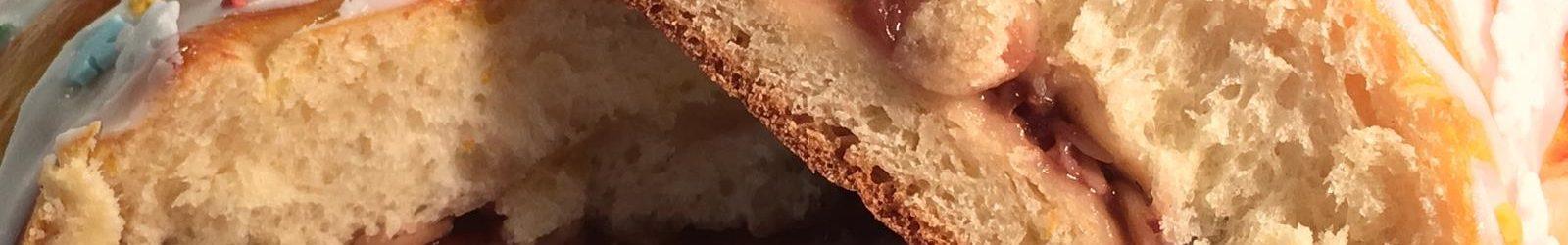 Treccia danese alla confettura di fragole, lievitata con macchina del pane – videoricetta