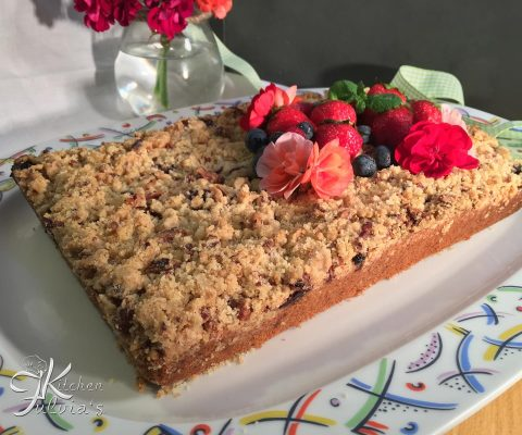 Crumble cake – Torta sbriciolata ai frutti rossi