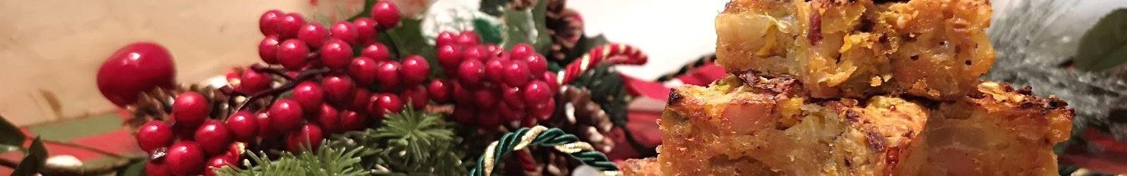 Albero natalizio di rosti con zucca, porro, patate e pancetta la ricetta