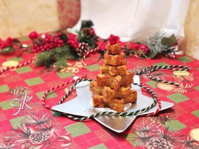 Albero natalizio di rosti con zucca, porro, patate e pancetta