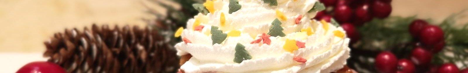 Cupcakes natalizi al cioccolato bianco, profumati con zenzero e cannella la ricetta
