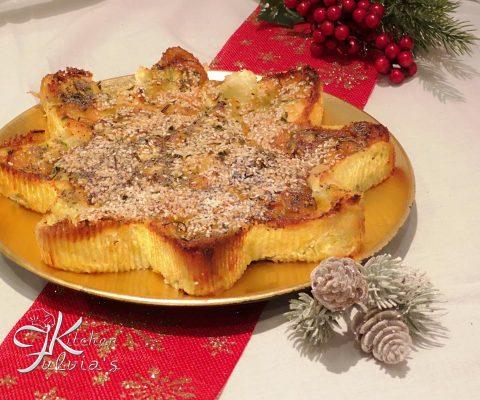 Stella di frittata con salmone e mozzarella di bufala la ricetta