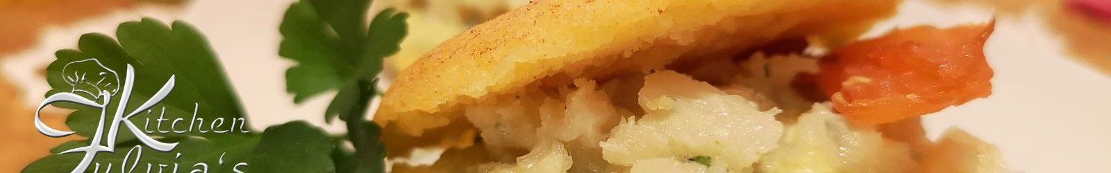 Mini pancakes di mais con crema di asparagi e baccalà mantecato la ricetta