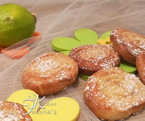 Biscotti girelle al profumo di lime la ricetta