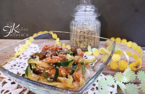Tagliatelle di zucchine al tonno e olive taggiasche la ricetta